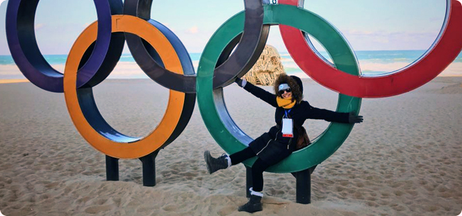 NBC News, Snapchat transports young alumna to South Korea for Olympic Winter Games