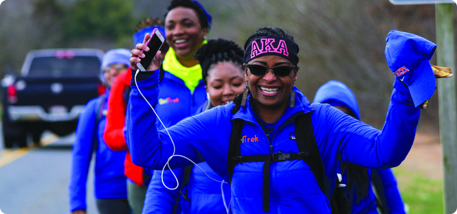Alumna walks 100 miles of the Underground Railroad in five days with GirlTrek