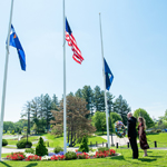 Campus community honors sacrifice at Memorial Day wreath-laying