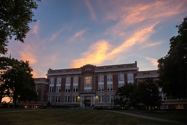 Old Main Building in summer