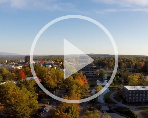 Aerial view of SUNY New Paltz Campus