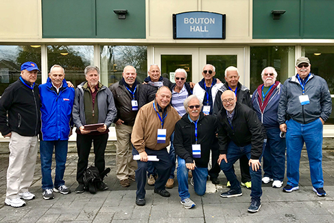 Going back into Bouton Hall with the same 13 guys who lived together on the 2nd floor 50 years ago was very emotional.