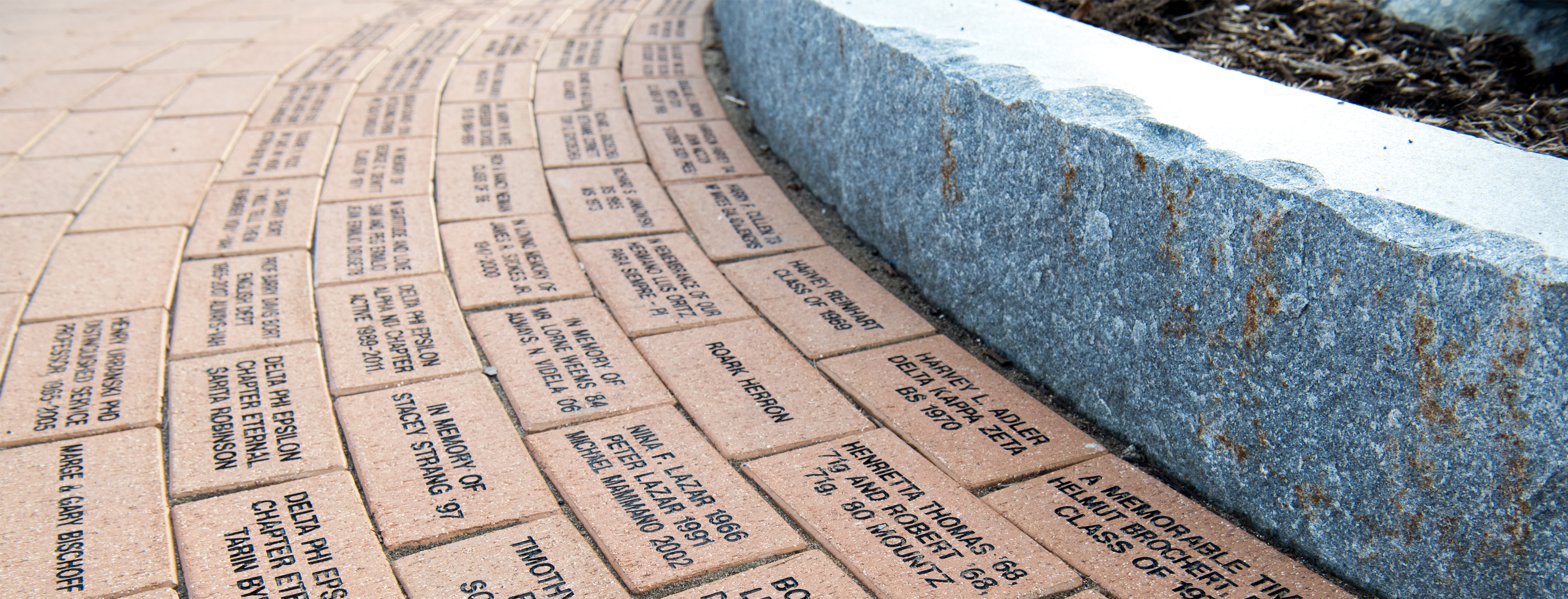 Close-up of the bricks on the walk of honor