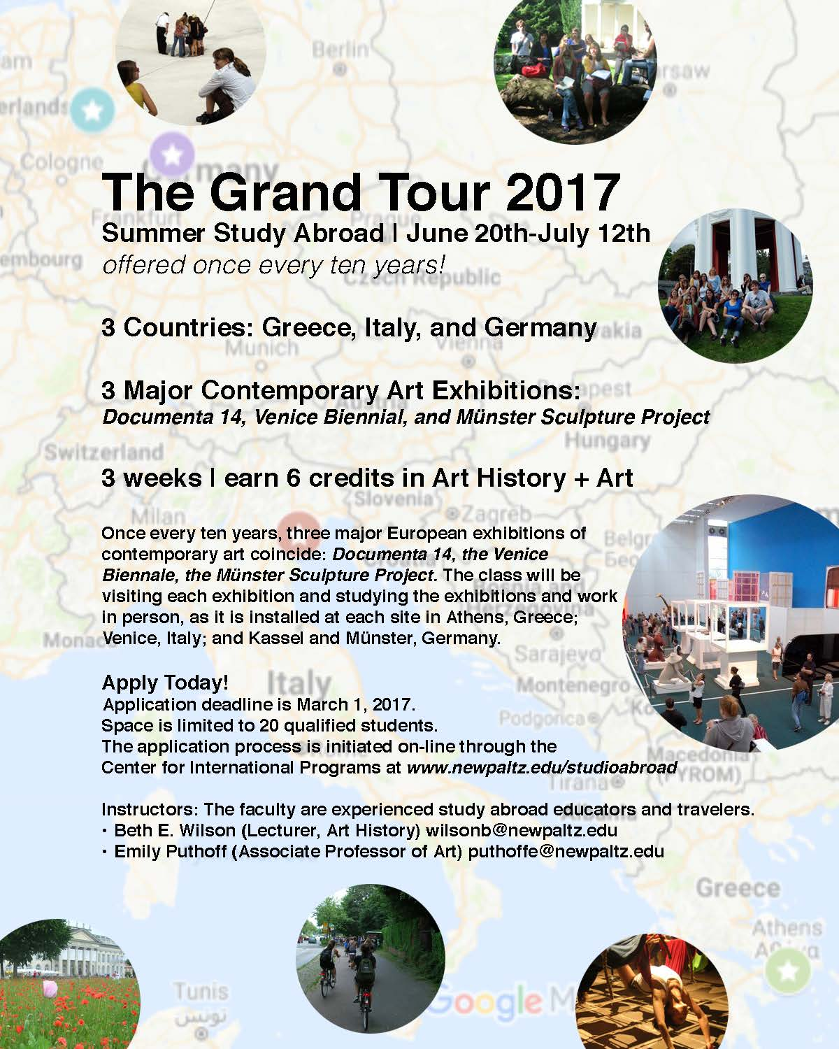 Art and Art History study abroad program information for Summer 2017