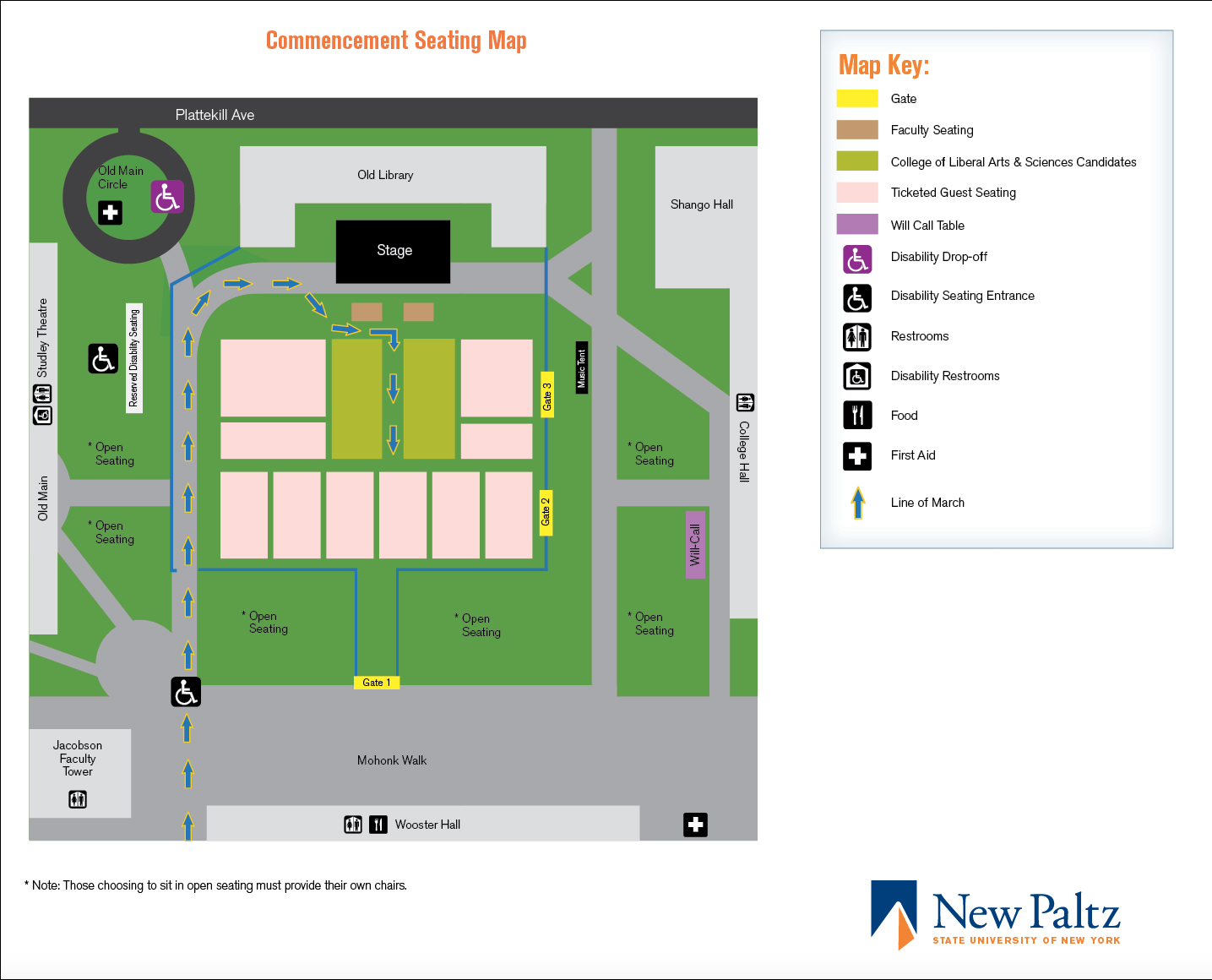 Suny New Paltz Campus Map SUNY New Paltz   Commencement