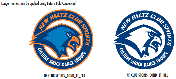 In order to differentiate sports clubs from intercollegiate athletic teams, club sports may use the club logos designed specifically for them.
