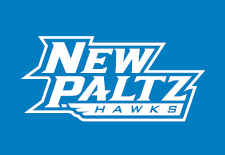 To use New Paltz Hawks logos in all white on dark backgrounds use the white art layer from the black and white art and allow the background to show through where the black art would be.