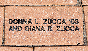 The Zucca sisters' brick