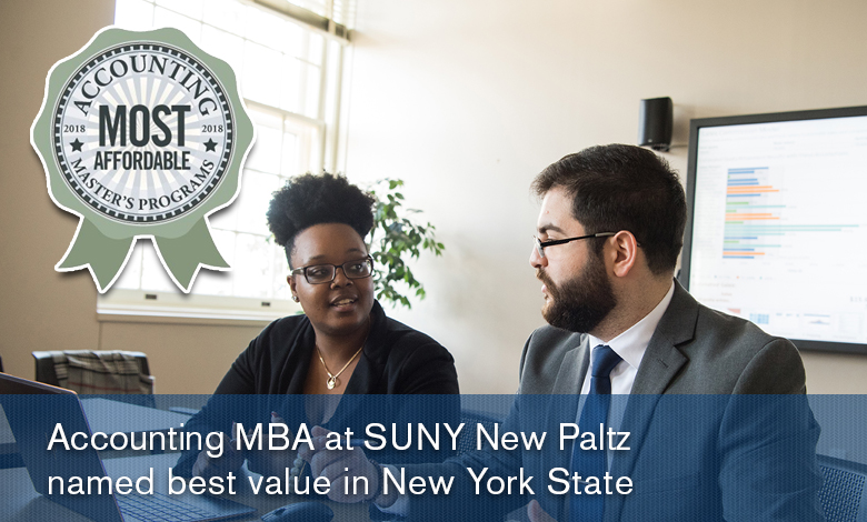 Accounting MBA at SUNY New Paltz named best value in New York State