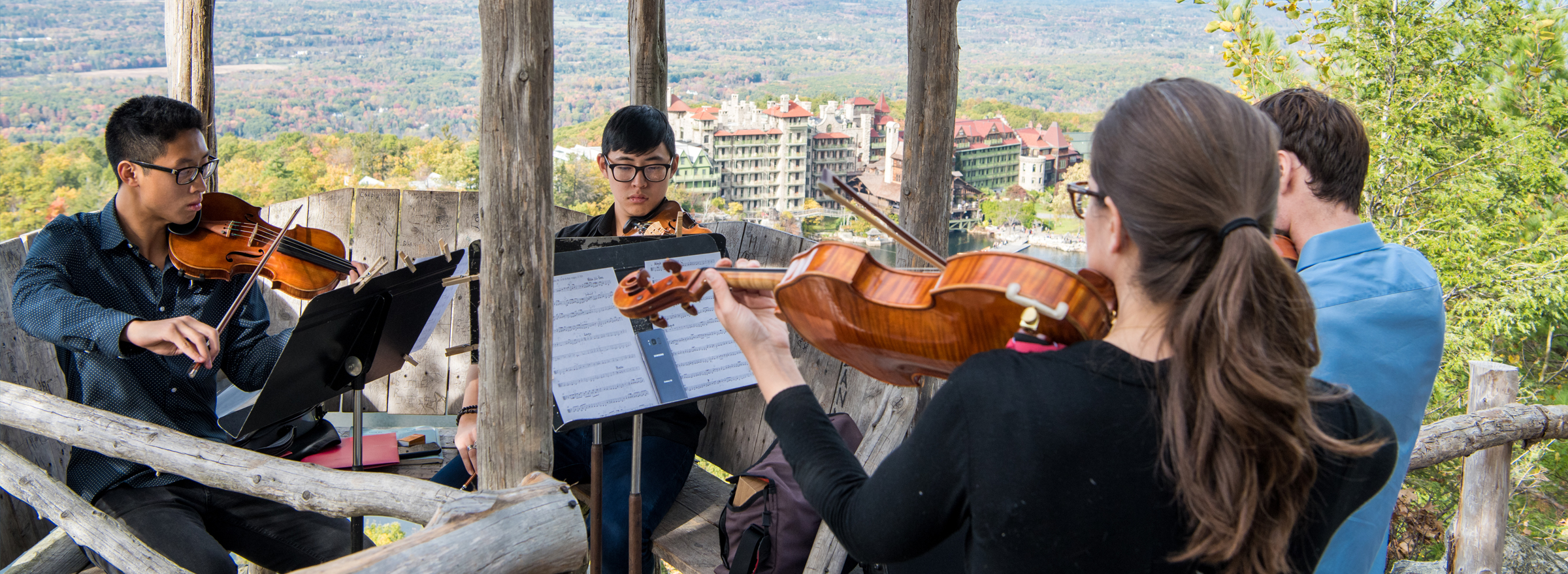 students performing at the Mohonk Mountain House