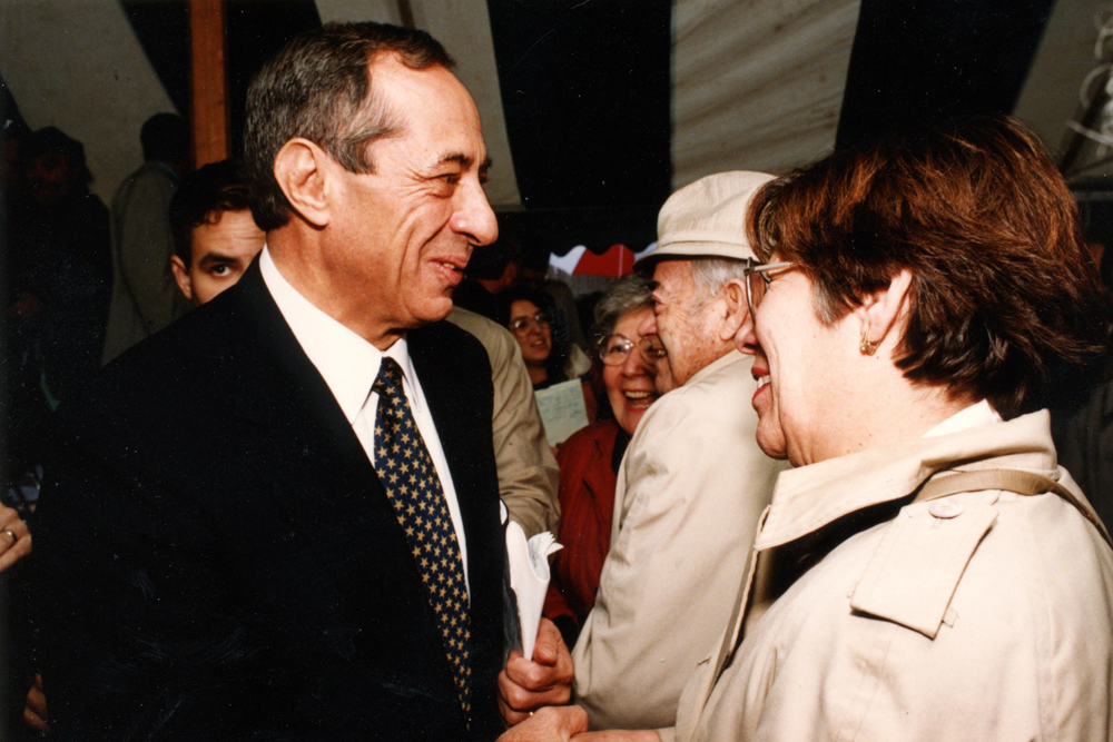 Mario Cuomo Campus Visit 1993 for Resnick Engineering Hall Groundbreaking