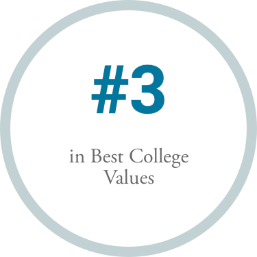 #3 in Best College Values